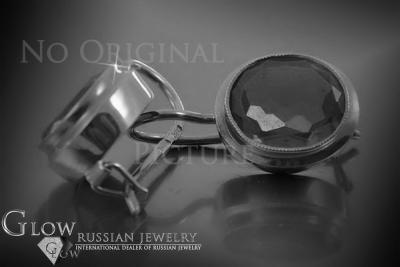 Russian rose Soviet gold earrings vens320
