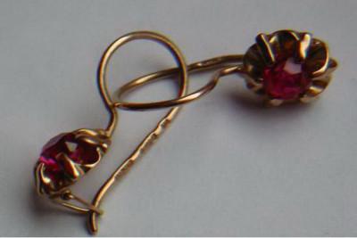 Russian rose Soviet gold Orthodox cross cpc016