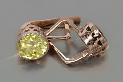Russian rose Sovier gold signet men's ring vs004