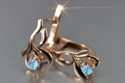 Russian rose Soviet gold alexandrite earrings veax190