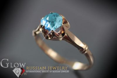 vrpr001 Russian rose Soviet gold pearl ring