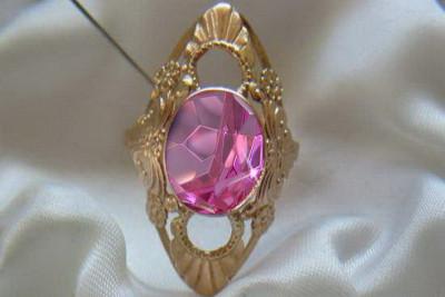 Russian rose gold earrings cez021