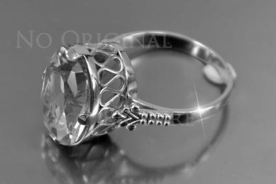 Russian rose Soviet gold amber ring vrab055
