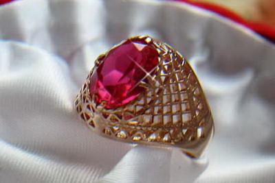Russian rose Soviet gold pearl earrings vepr003