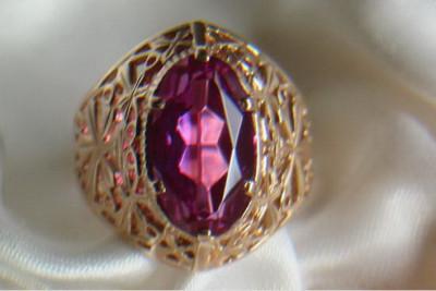 Russian rose Soviet gold pendant vpax014