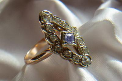 Russian rose Soviet gold earrings vens324