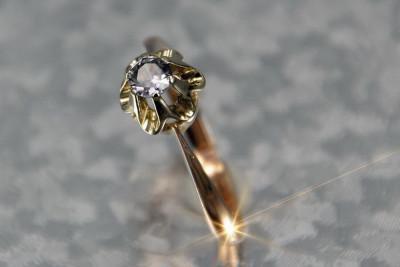 Russian rose Soviet gold alexandrite ring vrax368