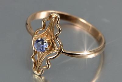 Russian rose gold Alexandrite earrings veax196