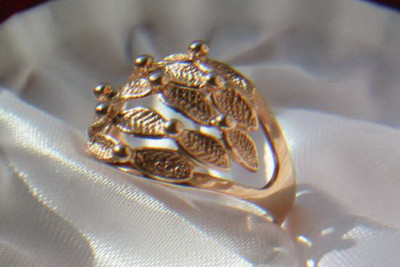 Russian rose gold no stone ring vrns107