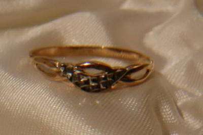 cc014 Russian rose Soviet gold Solid Bizantine chain