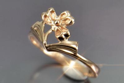 Russian rose Soviet gold pendant vpax017